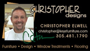 """I look forward to helping you make the most of your Keys home...from furniture & space planning to design & color coordination, let my 22 years of experience go to work for you!  Furniture, flooring, window treatments and kitchens & baths...I do it all!"" Christopher Designs is a division of Royal Furniture."